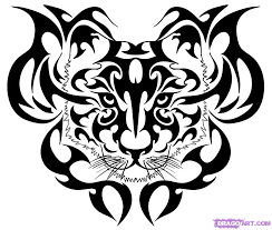 how to draw tribal tiger by tribal pop