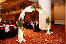 Wedding Backdrop Kl Maroon And Black Lace Wedding Decoration At Renaissance Hotel