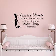compare prices on mermaid wall murals online shopping buy low wall decal quote i must be a mermaid little mermaid wall decals print new baby