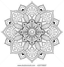 stylized vector mandala ornament for coloring books mandalas