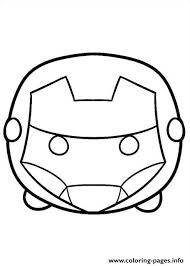 tsum tsum iron man coloring pages printable