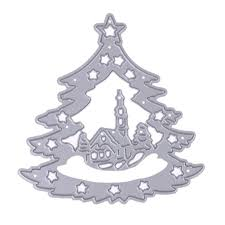 christmas tree metal cutting dies stencils for diy scrapbooking