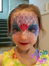 ariel mermaid facepaint done by fancifulfacepainting so cute