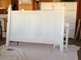 White Wood Headboard White Rustic Headboard Diy Projects Wooden King