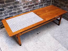 lane mid century modern coffee table circa midcentury u0027lane u0027 walnut tile coffee table