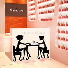 hot nail bar shop hair beauty salon wall art stickers decal diy see larger image