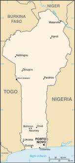 map of cities list of cities in benin simple the free