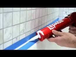 Clear Bathroom Sealant How To Seal Around A Tub Or Shower Youtube