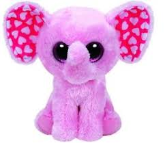 ty beanie boos sugar pink heart elephant stuffed animal birthday