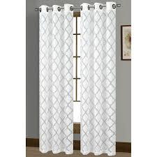 window elements lattice cotton blend burnout sheer 76 x 84 in