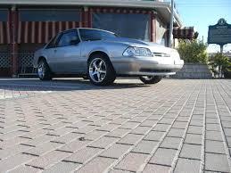 1989 notchback yn silver metallic clearcoat chrome cobra r wheels