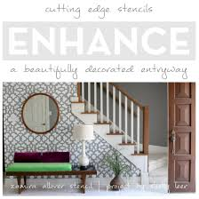 Entryway Painting Ideas Stencils Enhance A Beautifully Decorated Entryway Stencil Stories