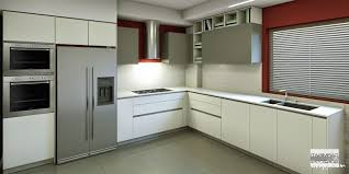 italian modular kitchen design with stainless steel appliances and
