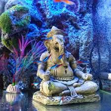 china fish tank decoration aquarium resin ornaments indian ganesh