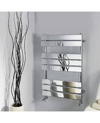 designer chrome 1200 x 600 flat panel heated bathroom towel rail