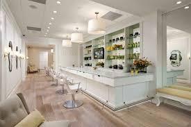 drybar interior shot crisp decor madison client inspiration