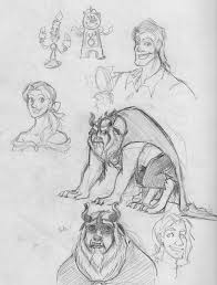 beauty and the beast sketches by arystar on deviantart