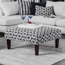 ottoman with patterned fabric feruca contemporary patterned fabric square ottoman by furniture of