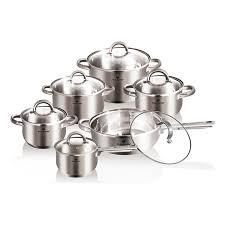 batterie cuisine blaumann batterie de cuisine 12 pièces argenté brandalley
