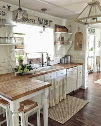 loving all of the textures in this farmhouse kitchen u003c3 kitchen