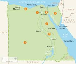 Egypt On World Map Map Of Egypt Egypt Regions Rough Guides