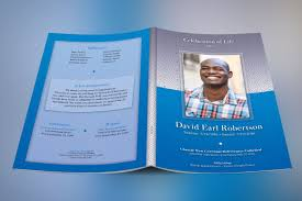 modern funeral programs blue diamond funeral program on behance