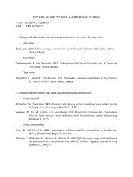 panduan penulisan daftar pustaka dari jurnal contoh penulisan daftar pustaka
