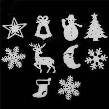 10pcs christmas xmas wall hanging decoration snowman santa clau