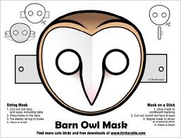 my owl barn halloween printable owl masks
