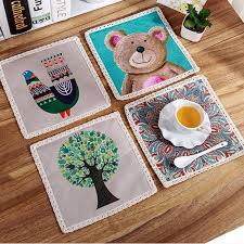 Table Place Mats 2017 Wholesale Novelty Heat Resistant Table Mats Dining Table