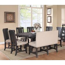 modus yosemite 7 piece oval dining table set with mixed chairs 4