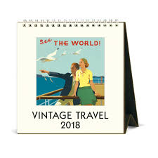 cavallini calendars buy vintage travel 2018 easel calendar by cavallini papers co