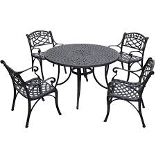 White Patio Dining Sets by Amazon Com Crosley Furniture Sedona 5 Piece Solid Cast Aluminum