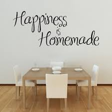 happiness is homemade wall stickers decals black happiness is homemade wall decal on a dining room wall