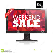 computer monitors black friday weekend sale poster stock vector image 80103360