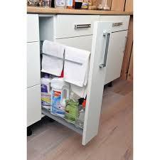 rangement pour meuble de cuisine rangement coulissant torchons et bouteilles pour meuble l 15 cm