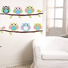 Owl Wall Sticker Popular Girls Owl Decor Buy Cheap Girls Owl Decor Lots From China