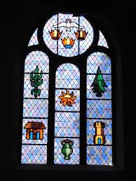 stained glass home decor file stained glass windows of the church john the baptist mauleon