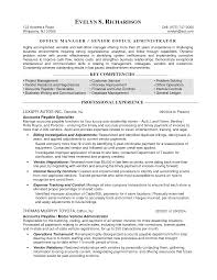 Program Manager Resumes Sample Resume Templates For Office Manager Medical Office Manager