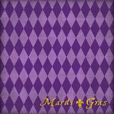 purple mardi gras customs united states collection louisiana 12 x 12 paper