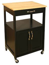 amazon com catskill craftsmen kitchen trolley black base natural