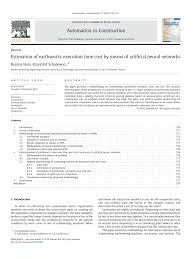 Earthwork Estimating Spreadsheet Estimation Of Earthworks Execution Time Cost By Means Of