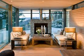 home design stone fireplace surround in gorgeous winter home