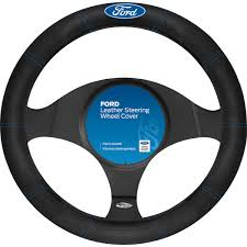 ford steering wheel cover leather black supercheap auto