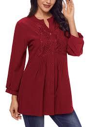 flowy blouses womens sleeve v neck lace flowy blouses tunics