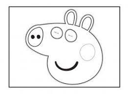 child cut colour peppa pig face mask