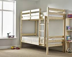 bunkbeds 3ft single solid pine includes two luxury 20cm