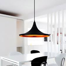One Light Pendant Black Shade One Light Iron Material Wire Pendant Lights