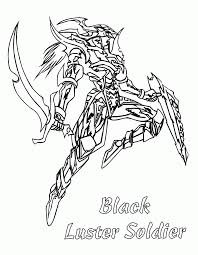 luster soldier character on yugioh cartoon film coloring pages