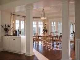 architecture fabulous white posts interior house wooden floor